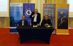od lewej: Karol Heidrich, Zbigniew Barłóg, Bartłomiej Baudler