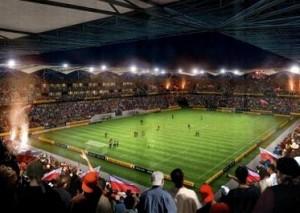 Zadaszenie stadionu - widok ztrybyn